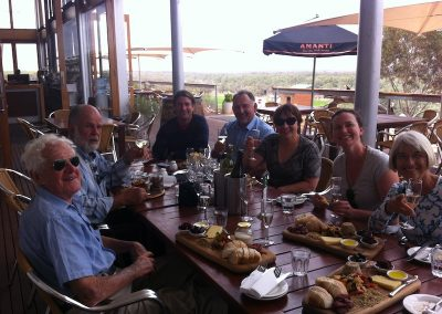 Birthday (83rd!) lunch on the Nullarbor Tour