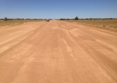 Morning inspection of the airstrip at Bindara Station