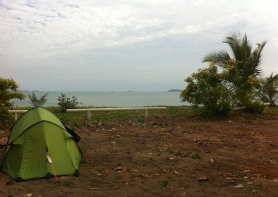Set up for the night at Cape York
