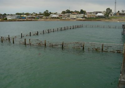 Shark proof fence at Streaky Bay